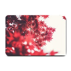 Maple Leaves Red Autumn Fall Small Doormat  by Onesevenart
