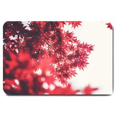 Maple Leaves Red Autumn Fall Large Doormat  by Onesevenart