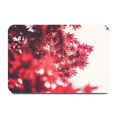 Maple Leaves Red Autumn Fall Plate Mats by Onesevenart
