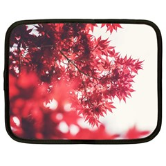 Maple Leaves Red Autumn Fall Netbook Case (large) by Onesevenart