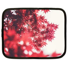 Maple Leaves Red Autumn Fall Netbook Case (xl)  by Onesevenart
