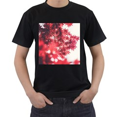 Maple Leaves Red Autumn Fall Men s T Shirt (black) by Onesevenart
