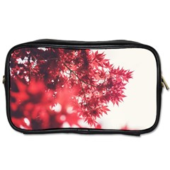 Maple Leaves Red Autumn Fall Toiletries Bags by Onesevenart