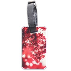 Maple Leaves Red Autumn Fall Luggage Tags (one Side)  by Onesevenart