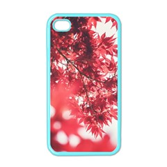 Maple Leaves Red Autumn Fall Apple Iphone 4 Case (color) by Onesevenart