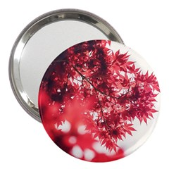 Maple Leaves Red Autumn Fall 3  Handbag Mirrors by Onesevenart