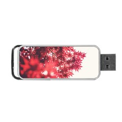 Maple Leaves Red Autumn Fall Portable Usb Flash (one Side) by Onesevenart