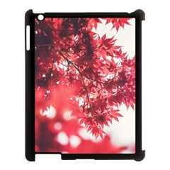 Maple Leaves Red Autumn Fall Apple Ipad 3/4 Case (black) by Onesevenart