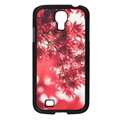 Maple Leaves Red Autumn Fall Samsung Galaxy S4 I9500/ I9505 Case (black) by Onesevenart