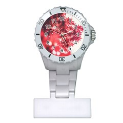 Maple Leaves Red Autumn Fall Plastic Nurses Watch by Onesevenart