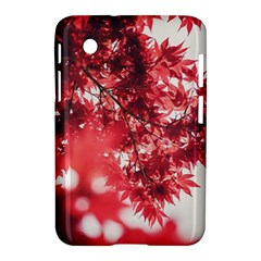 Maple Leaves Red Autumn Fall Samsung Galaxy Tab 2 (7 ) P3100 Hardshell Case  by Onesevenart