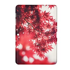 Maple Leaves Red Autumn Fall Samsung Galaxy Tab 2 (10 1 ) P5100 Hardshell Case  by Onesevenart