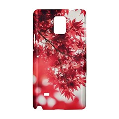 Maple Leaves Red Autumn Fall Samsung Galaxy Note 4 Hardshell Case by Onesevenart