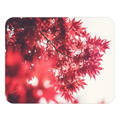Maple Leaves Red Autumn Fall Double Sided Flano Blanket (large)  by Onesevenart