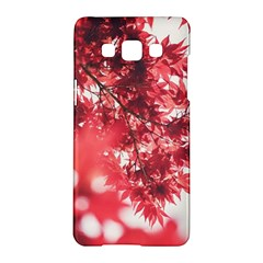 Maple Leaves Red Autumn Fall Samsung Galaxy A5 Hardshell Case  by Onesevenart