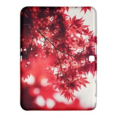 Maple Leaves Red Autumn Fall Samsung Galaxy Tab 4 (10 1 ) Hardshell Case  by Onesevenart