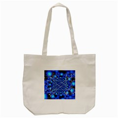 Network Connection Structure Knot Tote Bag (cream) by Onesevenart