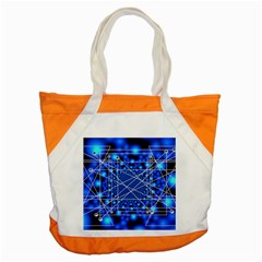 Network Connection Structure Knot Accent Tote Bag by Onesevenart