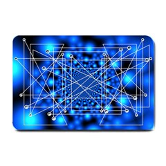 Network Connection Structure Knot Small Doormat  by Onesevenart