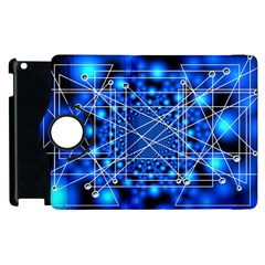Network Connection Structure Knot Apple Ipad 2 Flip 360 Case by Onesevenart