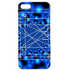 Network Connection Structure Knot Apple Iphone 5 Hardshell Case With Stand by Onesevenart