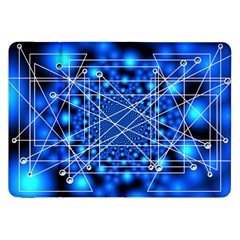Network Connection Structure Knot Samsung Galaxy Tab 8 9  P7300 Flip Case by Onesevenart