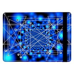 Network Connection Structure Knot Samsung Galaxy Tab Pro 12.2  Flip Case