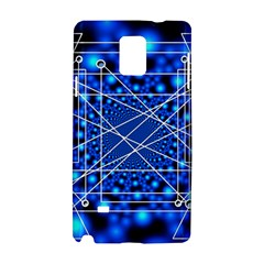 Network Connection Structure Knot Samsung Galaxy Note 4 Hardshell Case by Onesevenart