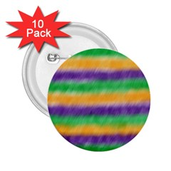 Mardi Gras Strip Tie Die 2 25  Buttons (10 Pack)  by PhotoNOLA