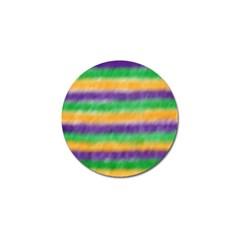 Mardi Gras Strip Tie Die Golf Ball Marker (4 Pack) by PhotoNOLA