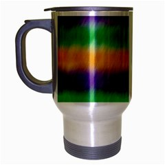 Mardi Gras Strip Tie Die Travel Mug (silver Gray) by PhotoNOLA