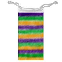 Mardi Gras Strip Tie Die Jewelry Bag by PhotoNOLA