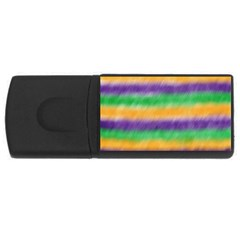 Mardi Gras Strip Tie Die Usb Flash Drive Rectangular (4 Gb) by PhotoNOLA