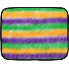 Mardi Gras Strip Tie Die Fleece Blanket (mini) by PhotoNOLA