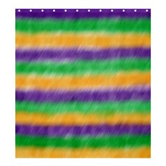 Mardi Gras Strip Tie Die Shower Curtain 66  X 72  (large)  by PhotoNOLA