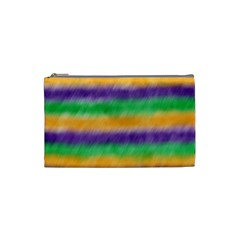 Mardi Gras Strip Tie Die Cosmetic Bag (small)  by PhotoNOLA