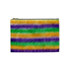 Mardi Gras Strip Tie Die Cosmetic Bag (medium)  by PhotoNOLA