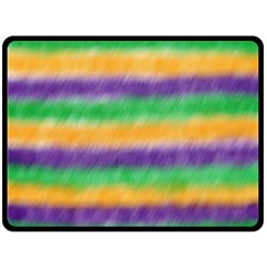Mardi Gras Strip Tie Die Fleece Blanket (large)  by PhotoNOLA