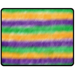Mardi Gras Strip Tie Die Fleece Blanket (medium)  by PhotoNOLA