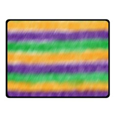 Mardi Gras Strip Tie Die Fleece Blanket (small) by PhotoNOLA