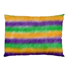 Mardi Gras Strip Tie Die Pillow Case (two Sides) by PhotoNOLA