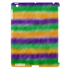Mardi Gras Strip Tie Die Apple Ipad 3/4 Hardshell Case (compatible With Smart Cover) by PhotoNOLA