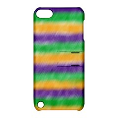 Mardi Gras Strip Tie Die Apple Ipod Touch 5 Hardshell Case With Stand by PhotoNOLA