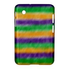 Mardi Gras Strip Tie Die Samsung Galaxy Tab 2 (7 ) P3100 Hardshell Case  by PhotoNOLA