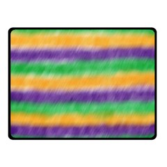 Mardi Gras Strip Tie Die Double Sided Fleece Blanket (small)  by PhotoNOLA