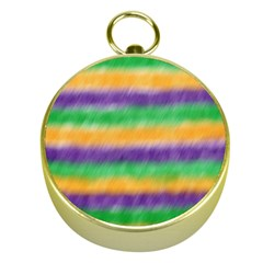Mardi Gras Strip Tie Die Gold Compasses by PhotoNOLA