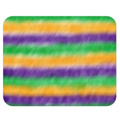 Mardi Gras Strip Tie Die Double Sided Flano Blanket (medium)  by PhotoNOLA