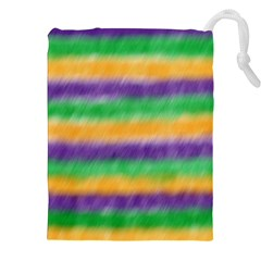 Mardi Gras Strip Tie Die Drawstring Pouches (xxl) by PhotoNOLA