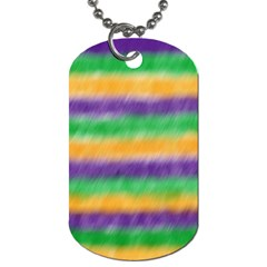 Mardi Gras Strip Tie Die Dog Tag (one Side) by PhotoNOLA