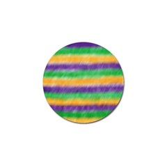 Mardi Gras Strip Tie Die Golf Ball Marker by PhotoNOLA